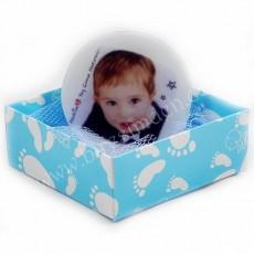 Fotoğraflı Erkek Bebek Butik Sabun (Yuvarlak)