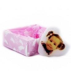 Fotoğraflı Kız Bebek Butik Sabun (Kalp)