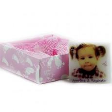 Fotoğraflı Kız Bebek Butik Sabun (Kare)