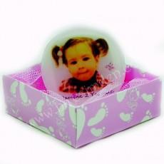 Fotoğraflı Kız Bebek Butik Sabun (Yuvarlak)