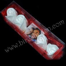 Sevgiliye Özel Beyaz Gül Hediye Seti - Fotoğraflı Sabun