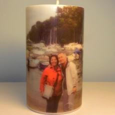 Fotoğraflı Silindir Mum (11,5 x 7,5 cm)
