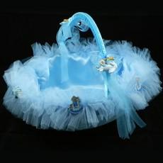 Bebek Şekeri Sunum Sepeti (Mavi)