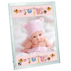 Kız Bebek Hediyesi Fotoğraf Baskılı Çerçeve (18x23 cm)