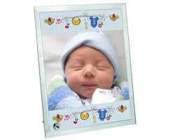 Erkek Bebek Hediyesi Fotoğraf Baskılı Çerçeve (18x23 cm)