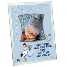 Hoşgeldin Bebek Fotoğraf Çerçevesi (Erkek)