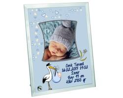Hoşgeldin Bebek Fotoğraf Baskılı Çerçeve (Erkek)