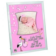 Hoşgeldin Bebek Fotoğraf Çerçevesi (Kız)