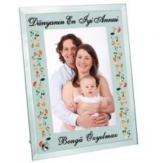 Anneler Günü Hediyesi - Fotoğraflı Mesajlı Çerçeve (23x18 cm)