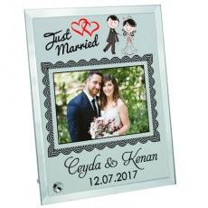 Düğün Hediyesi Fotoğraf Baskılı Çerçeve