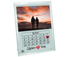 Sevgililer Günü Hediyesi 14 Şubat Tarihli Fotoğraflı ve İsimli Cam Çerçeve