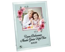 Canım Babaannem Fotoğraf ve Mesaj Baskılı Cam Çerçeve - Babaanneye Anneler Günü Hediyesi