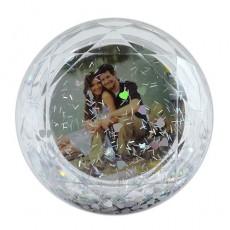 Kristal Görünümlü Fotoğraflı Kar Küresi