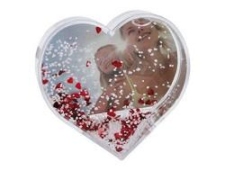 Fotoğraflı Kalp Kar Küresi