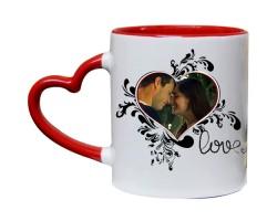 Fotoğraflı Love Sevgili Kupası