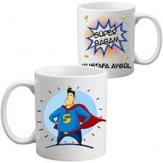 Süper Babam İsimli Kupa Bardak