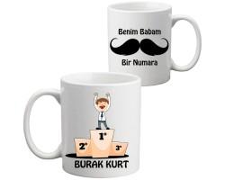 """Babalara Özel """"BABAM 1 NUMARA"""" Kupa Bardak"""