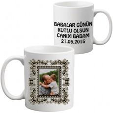 """Fotoğraflı """"CANIM BABAM"""" Kupa Bardak"""