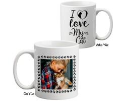 """Fotoğraflı """"Kedimi Seviyorum"""" Kupa Bardak"""