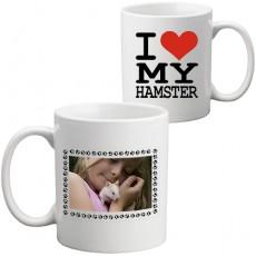 """Fotoğraflı """"Hamsterımı Seviyorum"""" Kupa Bardak"""