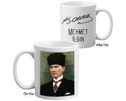 İmzalı Atatürk Kupa Bardak