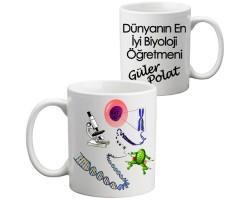 Öğretmenler Günü Hediyesi - Biyoloji Öğretmeni Kupa Bardak