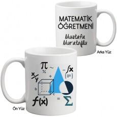 Öğretmenler Günü Hediyesi - Matematik Öğretmeni Kupa Bardak