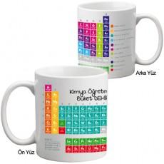 Kimya Öğretmenine Hediye Periyodik Cetvel Kupa Bardak - Öğretmenler Günü Hediyesi