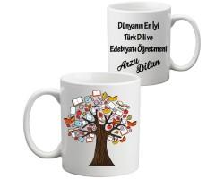 Edebiyat Öğretmenine Hediye Kupa Bardak - Öğretmenler Günü Hediyesi