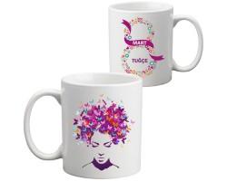 8 Mart Dünya Kadınlar Günü Hediyesi İsimli Kupa Bardak