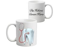 Diş Doktoruna Hediye Kupa Bardak
