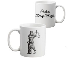 Avukata Hediye Adalet Kupa Bardak - Hukukçuya Hediye