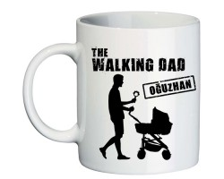 Babalar Günü Hediyesi İsimli Walking Dad Kupa Bardak