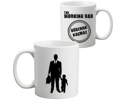 Erkek Babasına Hediye - İsimli Working Dad Kupa Bardak