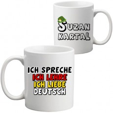 Almanca Öğretmenine Hediye Kupa Bardak