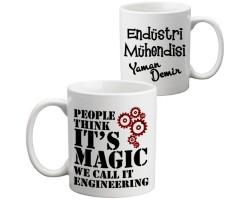 Endüstri Mühendisine Hediye Kupa Bardak