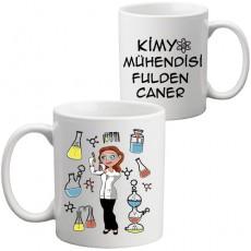 Bayan Kimya Mühendisine Hediye Kupa Bardak