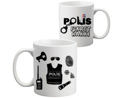 Polis Hediyesi Kupa Bardak