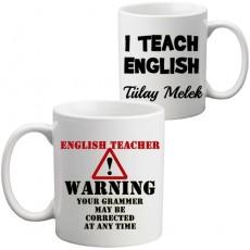 İngilizce Öğretmenine Öğretmenler Günü Hediyesi Kupa Bardak