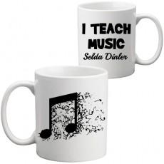 Müzik Öğretmenine Öğretmenler Günü Hediyesi Kupa Bardak