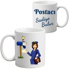Bayan Postacıya Hediye Kupa Bardak