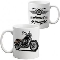 Motorcu Tasarım Kupa Bardak
