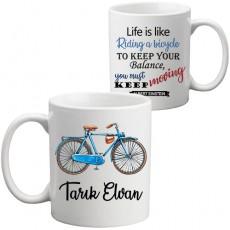 Erkek Bisikletçi Hediyesi İsimli Kupa Bardak