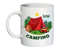 Kamp Temalı İsim Baskılı Kampçı Hediyesi Kupa Bardak