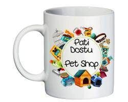 Pet Shop Dükkanı Hediyesi İsim Baskılı Kupa Bardak