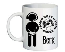 Best Gamer Oyuncuya Hediye İsimli Kupa Bardak