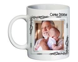 Canım Dedem Babalar Günü Hediyesi Fotoğraflı Kupa Bardak - Dedeye Hediye
