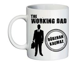 Babalar Günü Hediyesi Working Dad İsimli Kişiye Özel Kupa Bardak