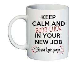 Yeni iş Hediyesi İsimli Good Luck Kişiye Özel Kupa Bardak