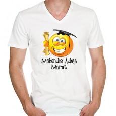 Mezuniyet Hediyesi - Erkek Emojili Tişört